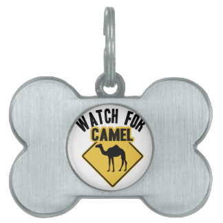 Watch For Camel Pet ID Tag