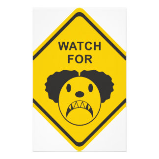 Watch For Clown Stationery