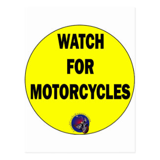 Watch for Motorcycles BLING Post Cards