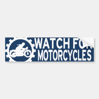 WATCH FOR MOTORCYCLES BUMPER STICKER