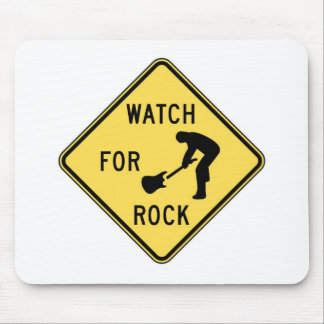 WATCH FOR ROCK- rock and roll/music/indie/metal Mouse Pad
