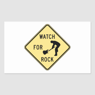 WATCH FOR ROCK- rock and roll/music/indie/metal Rectangle Stickers