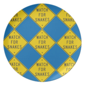 Watch for Snakes Plate