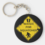Watch For Squatches Basic Round Button Key Ring