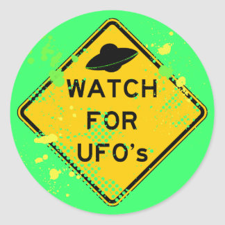 WATCH FOR UFO's Classic Round Sticker