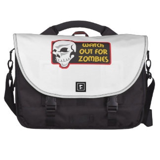 WATCH FOR ZOMBIES LAPTOP BAGS