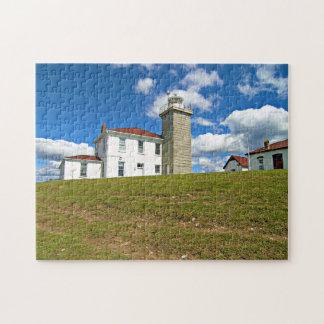Watch Hill Lighthouse, Rhode Island Jigsaw Puzzle