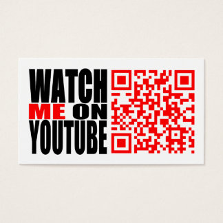 Watch Me on YouTube (Modern) Business Card