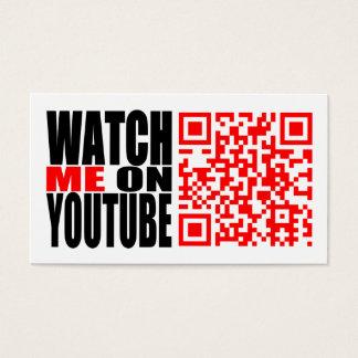 Watch Me on YouTube   Modern (Dark) Business Card
