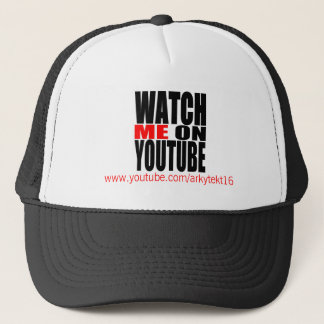 Watch Me on YouTube   Modern (Dark) Trucker Hat