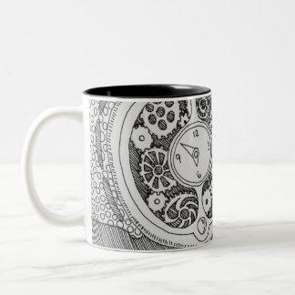 Watch My Coffee Two-Tone Coffee Mug