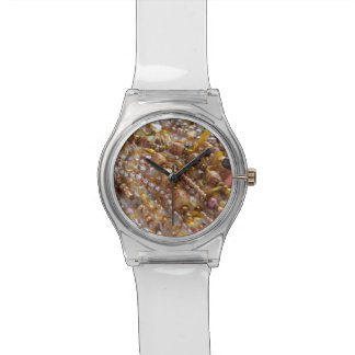 Watch- Natural Earth Tones, Beads Print Wrist Watches