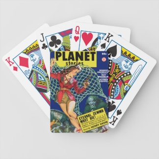 Watch out!  A net! Bicycle Playing Cards