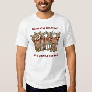 Watch Out Grandma Reindeer Shirt