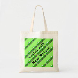 Watch out!!! New Driver! Green Car Tote Bag Tote Bag