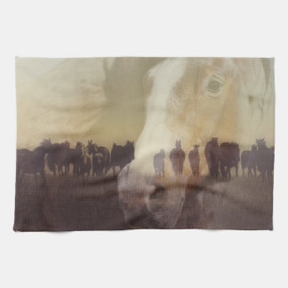 Watch Over the Last Run at Dusk Kitchen Towel