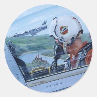 Watch Over the Rhine by Ken Riley Round Sticker