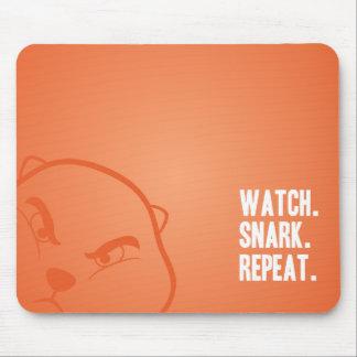 Watch. Snark. Repeat. Mousepad