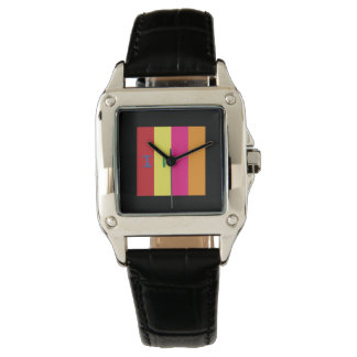 WATCH square black band Prism Code LOVE