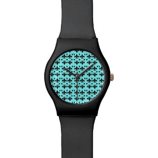 Watch with 'fleur de lis' design