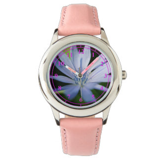 Watch With Pink Strap And Pink Numbers