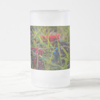 Watch Your Back Frosted 16 oz Frosted Glass Mug