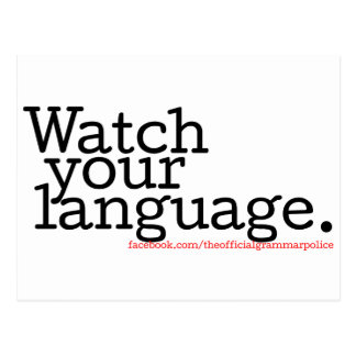 Watch Your Language 2 Postcard