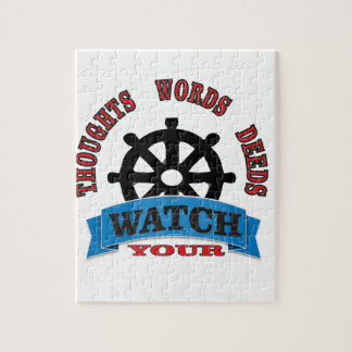 watch your thoughts words deeds jigsaw puzzle