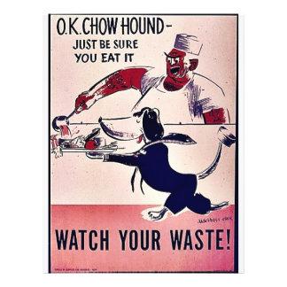 Watch Your Waste! 21.5 Cm X 28 Cm Flyer
