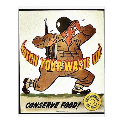Watch Your Waste Line Flyer Design