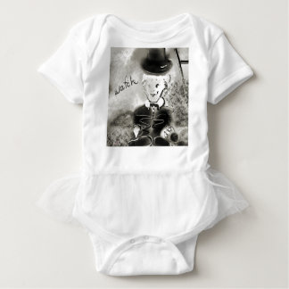 watchb&w baby bodysuit