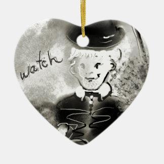 watchb&w ceramic heart decoration