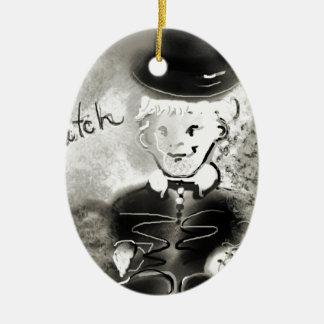 watchb&w ceramic oval decoration