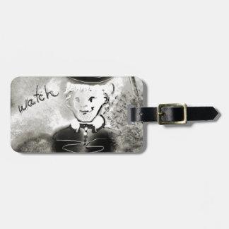 watchb&w luggage tag