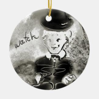watchb&w round ceramic decoration