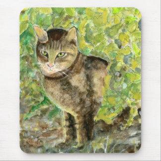 Watchful Half-Burmese Cat Mousepad