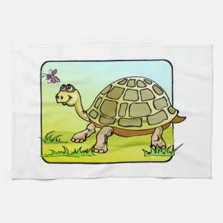 Watchful Turtle Tea Towel