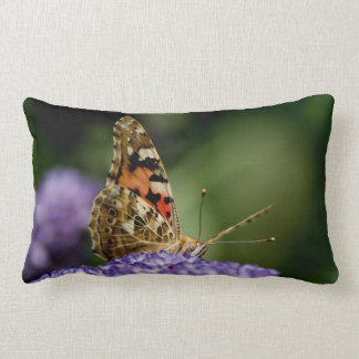 Watching and Waiting butterfly Lumbar Cushion