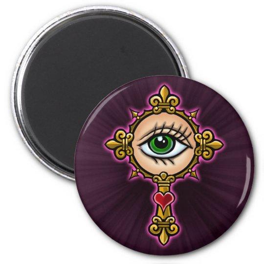 Watching Eye Cross Design Magnet