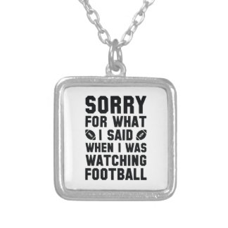 Watching Football Silver Plated Necklace