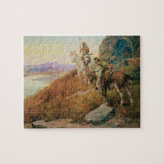 Watching for the White Man's Boats by OC Seltzer Jigsaw Puzzle