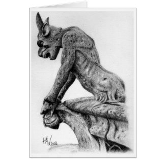 Watching Gargoyle Card
