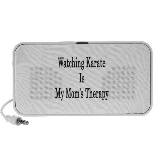 Watching Karate Is My Mom's Therapy iPod Speakers