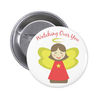 Watching Over You 6 Cm Round Badge
