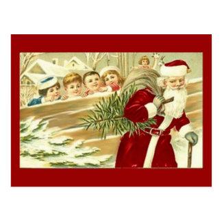 Watching Santa Post Card