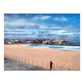 Watching the beach photo print