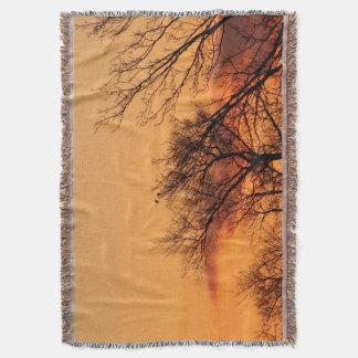 Watching the Sunrise Throw Blanket
