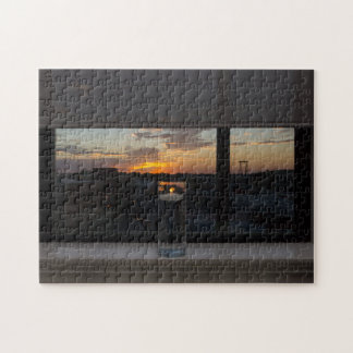 Watching The Sunset Jigsaw Puzzle
