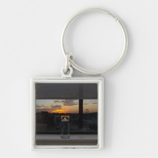 Watching The Sunset Key Ring