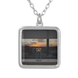 Watching The Sunset Silver Plated Necklace